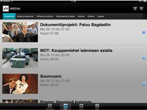 Uusi Yle Areena nyt myös iPadille -- Applen vaatimukset viivästyksen taustalla