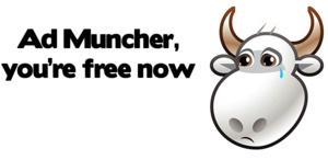 Ad Muncher vanaf nu freeware!