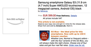 Part of Samsung Galaxy S III specs leak via Amazon
