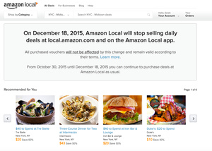 Amazon gets out of the daily deal business