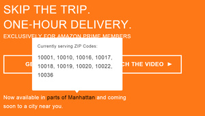 Amazon will offer one-hour delivery for Prime members in NYC