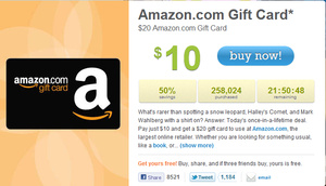 Updated: LivingSocial sells 500,000 Amazon gift cards, with a lot of time to go