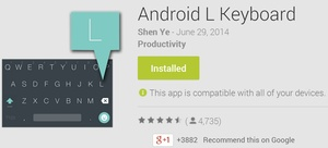 Android L keyboard available as standalone app in the Play Store
