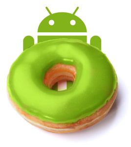 Android 'Donut' upgrade looks excellent