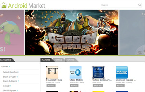 Google shows off Android Market webstore