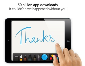 Apple App Store hits 50 billion downloads