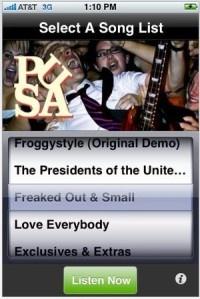 Amerikan Presidentit myyvät musiikkiaan App Storen kautta