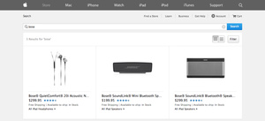Apple again selling Bose products via online store
