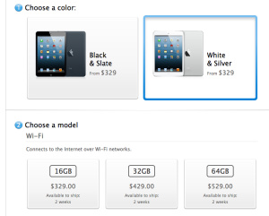 iPad Mini pre-orders sold out, shipping time now 2 weeks