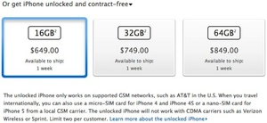 Unlocked iPhones now available in U.S.