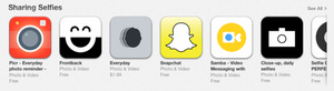 Love taking selfies? The Apple App Store has a new section for you