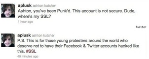Ashton Kutcher has Twitter account hacked
