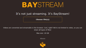 The Pirate Bay testing video streaming again