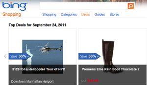 Microsoft starts 'Bing Deals' website