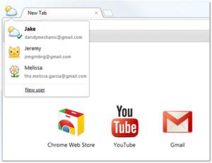 Nieuwe Chrome Beta met meerdere gebruikers