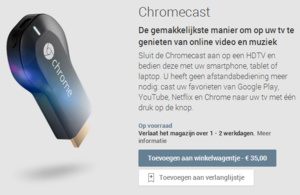 Chromecast nu te koop in Nederland