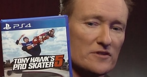 Funny Video: Conan plays Tony Hawk's Pro Skater 5 with Tony Hawk and Lil Wayne