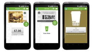 Ten percent of Starbucks transactions now done via mobile payments