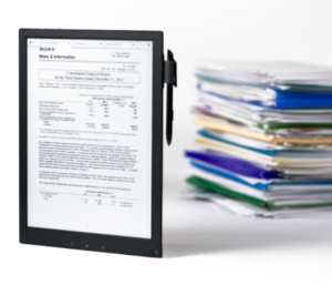 Sony brings its e-ink tablet 'Digital Paper' to the U.S., for $1100