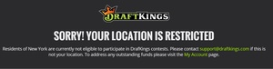 DraftKings, FanDuel no longer available in NY