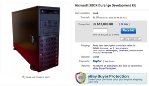 Seller puts Xbox Durango dev kit up for sale on eBay