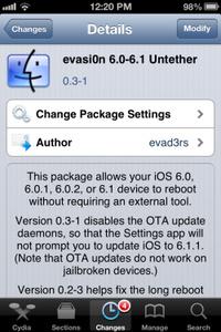 Evasi0n iOS 6.1 jailbreak update schakelt OTA uit, nu al 7 miljoen apparaten gejailbreakt