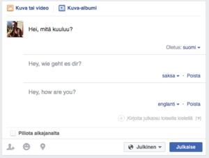 Facebook esitteli monikieliset julkaisut, näin saat ominaisuuden päälle