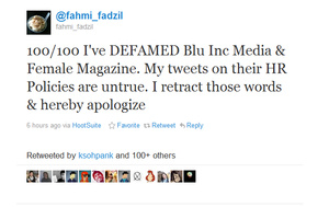 Man agrees to tweet his apology 100 times in defamation case