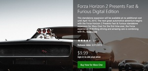 Microsoft makes 'Forza Horizon 2: Presents Fast & Furious' free for Xbox One, Xbox 360