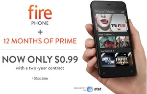 Amazon puts failed Fire Phone on fire sale with 99 percent discount