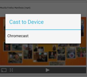 Firefoxin mobiiliversiosta löytyykin jo tuki Chromecastille