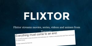 Ook Flixtor gooit de handdoek in de ring