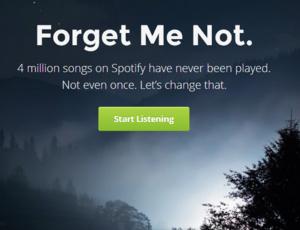 Forgotify speelt alleen Spotify songs af die nog nooit eerder beluisterd zijn