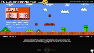Super Mario resurrected in HTML5