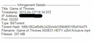 HBO sends out thousands of warnings to Game of Thrones file sharers