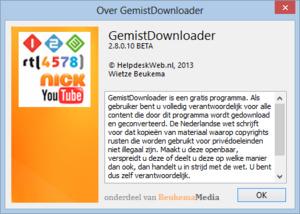 Nieuwe betaversie van GemistDownloader beschikbaar