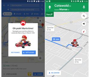Tänään Mario-päivänä Googlen kartoissa voi ajaa Mario Kartia
