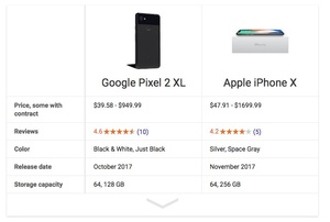 Google's new search tool lets you compare smartphones
