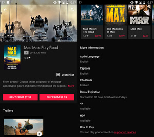 HDR movies and shows added to Google Play