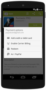 Google Play now accepts PayPal payments, expands carrier billing support
