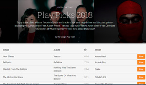 Don't forget to download free, top singles and albums from 2013 through the Google Play Store