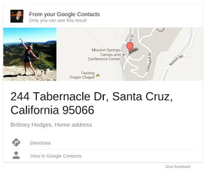 Experimental: Google Search now allows Gmail contact info to be added to search results