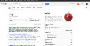 Google adds nutritional info to searches