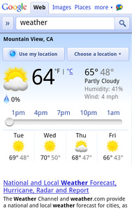 Google launches in-browser weather app for Android, iOS