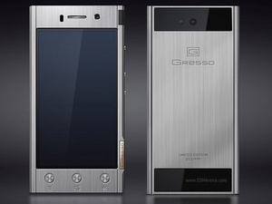 Gresso unveils titanium Android phones, starting at $1800