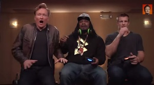 Watch Marshawn Lynch take on Rob Gronkowski in 'Mortal Kombat X' ahead of tonight's Superbowl
