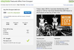Groupon, eBay team up for kickback deals