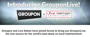 Groupon teams up with Live Nation for concert deals