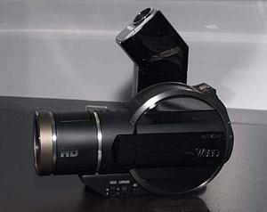 Hitachin videokamera kirjoittaa Blu-raylle