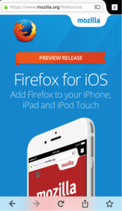 Firefox for iOS now available as preview